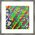 Dr. Cornel West  Love The People Framed Print by Tony B Conscious
