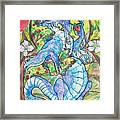 Dragon Apples Framed Print by Jenn Cunningham