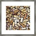 Fine Wine Corks Framed Print by Frank Tschakert