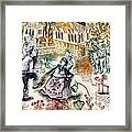 Folk-dancing Framed Print by Milen Litchkov