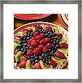 Fruit Tart Pie Framed Print by Garry Gay