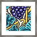 Grapes Framed Print by Genevieve Esson