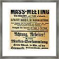 Haymarket Handbill, 1886 Framed Print by Granger