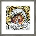 Icon Of The Bl Virgin Mary W Christ Child Framed Print by Jake Hartz