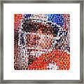 John Elway Mosaic Framed Print by Paul Van Scott