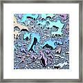 Liquid Color 1 Framed Print by Mark Fuller