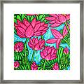 Lotus Bliss Framed Print by Lisa  Lorenz