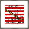 Navy Jack Flag Framed Print by War Is Hell Store