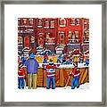 Neighborhood  Hockey Rink Framed Print by Carole Spandau
