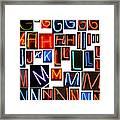 neon series G through N Framed Print by Michael Ledray