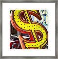 Old Dollar Sign Framed Print by Garry Gay