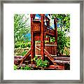 Old Wine Press Framed Print by Mariola Bitner