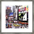 On Broadway New York Framed Print by Rosie Brown