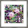 Patchwork Quilt Framed Print by Karen Lewis