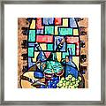 Salute Happy Hour In Tuscany Framed Print by Anthony Falbo