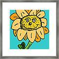 Senny The Sunflower Framed Print by Jera Sky