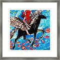 She Flies With The West Wind Framed Print by Sushila Burgess