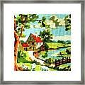 The Farm House Framed Print by Farah Faizal