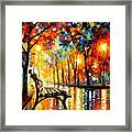 The Loneliness Of Autumn Framed Print by Leonid Afremov