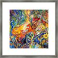 The Love Dance Framed Print by Elena Kotliarker