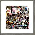 Times Square 1 Framed Print by Andrew Fare