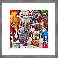 Toy Robots Framed Print by Garry Gay
