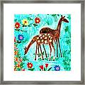 Two Deer Framed Print by Sushila Burgess