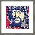 Waylon Jennings Pop Art Framed Print by Jim Zahniser