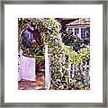 Welcome Rose Covered Gate Framed Print by David Lloyd Glover