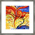 Whirlwind By Madart Framed Print by Megan Duncanson