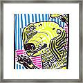 Yellow Lab Framed Print by Robert Wolverton Jr