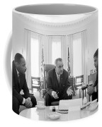 Lyndon Baines Johnson 1908-1973 36th President Of The United States In Talks With Civil Rights  Coffee Mug by Anonymous