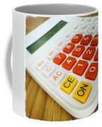 Calculator Coffee Mug by Les Cunliffe