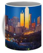 Dallas Skyline Coffee Mug by Inge Johnsson