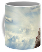 Hands In Sky Coffee Mug by Les Cunliffe