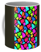 Hearts Coffee Mug by Louisa Knight