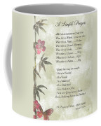 Pope Francis St. Francis Simple Prayer Butterfly Garden Coffee Mug by Desiderata Gallery