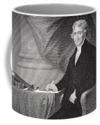 Portrait Of Thomas Jefferson Coffee Mug by Alonzo Chappel