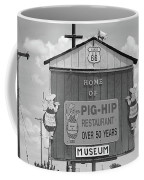 Route 66 - Pig-hip Restaurant Coffee Mug by Frank Romeo