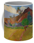 Tahitian Landscape Coffee Mug by Paul Gauguin