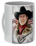 Willie Nelson American Legend Coffee Mug by Andrew Read