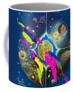 World Map And Barack Obama Stars Coffee Mug by Augusta Stylianou