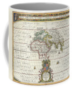 1650 Jansson Map Of The Ancient World Coffee Mug by Paul Fearn