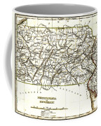 1835 Pennsylvania And New Jersey Map Coffee Mug by Bill Cannon