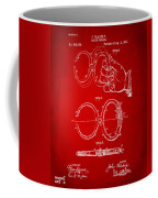 1891 Police Nippers Handcuffs Patent Artwork - Red Coffee Mug by Nikki Marie Smith
