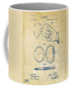 1891 Police Nippers Handcuffs Patent Artwork - Vintage Coffee Mug by Nikki Marie Smith