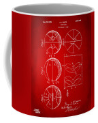 1929 Basketball Patent Artwork - Red Coffee Mug by Nikki Marie Smith