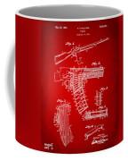 1937 Police Remington Model 8 Magazine Patent Artwork - Red Coffee Mug by Nikki Marie Smith