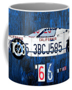 1966 Ford Gt40 License Plate Art By Design Turnpike Coffee Mug by Design Turnpike