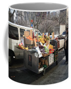 New York Street Vendor Coffee Mug by Frank Romeo